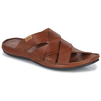 Schoenen Heren Leren slippers Pikolinos TARIFA Bruin
