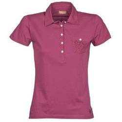 Textiel Dames Polo's korte mouwen Napapijri EZE Roze