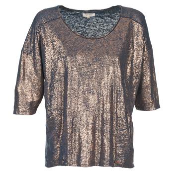 Textiel Dames T-shirts korte mouwen Miss Sixty FOX Marine / Goud
