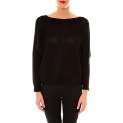 Textiel Dames Truien De Fil En Aiguille Pull Galina noir Zwart