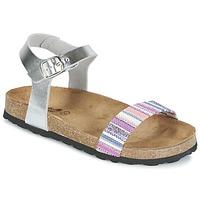 Schoenen Meisjes Sandalen / Open schoenen Citrouille et Compagnie IGUANA Zilver / Multi