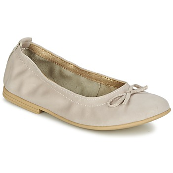 Schoenen Meisjes Ballerina's Citrouille et Compagnie JAPPALIE MOCA Creme