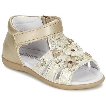 Schoenen Meisjes Sandalen / Open schoenen Citrouille et Compagnie PAQUETI Beige