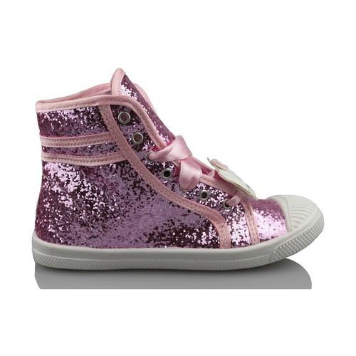 Schoenen Meisjes Hoge sneakers Hello Kitty CAMOMILLA MILANO GLIPPER ROSA