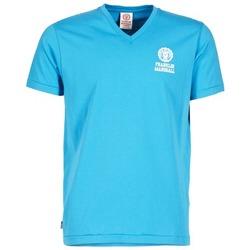 Textiel Heren T-shirts korte mouwen Franklin & Marshall DOBSON Blauw