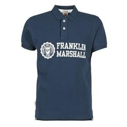 Textiel Heren Polo's korte mouwen Franklin & Marshall AYLEN Marine