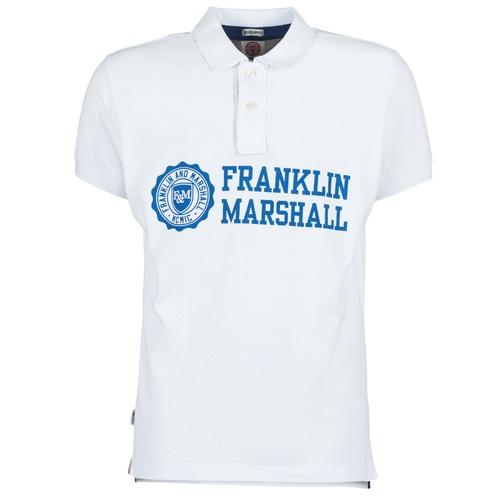 Textiel Heren Polo's korte mouwen Franklin & Marshall AYLEN Wit