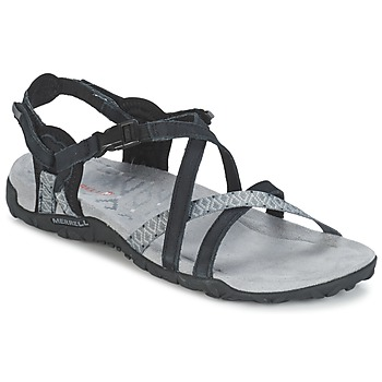 Schoenen Dames Outdoorsandalen Merrell TERRAN LATTICE II Zwart