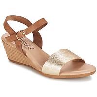 Schoenen Dames Sandalen / Open schoenen Casual Attitude GOLETTE Camel / Goud