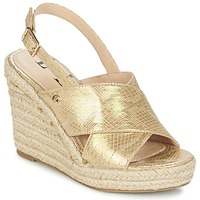 Schoenen Dames Sandalen / Open schoenen Elle CAMPO Beige / Goud