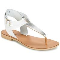 Schoenen Dames Sandalen / Open schoenen Betty London VITALLA Zilver / Wit