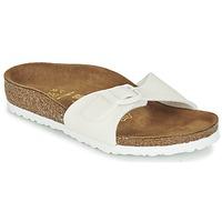 Schoenen Meisjes Leren slippers Birkenstock MADRID Wit / Pailletten