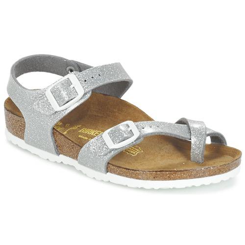 Schoenen Meisjes Sandalen / Open schoenen Birkenstock TAORMINA Zilver