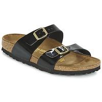 Schoenen Dames Leren slippers Birkenstock SYDNEY Zwart / Lak