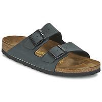 Schoenen Heren Leren slippers Birkenstock ARIZONA Grijs