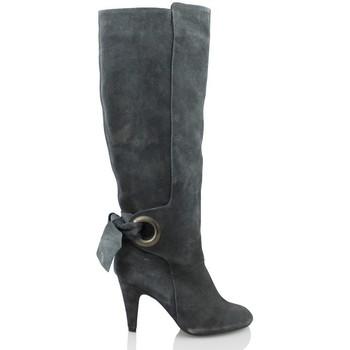 Schoenen Dames Hoge laarzen Elia Bruni GRAS GRAFITO GRIS