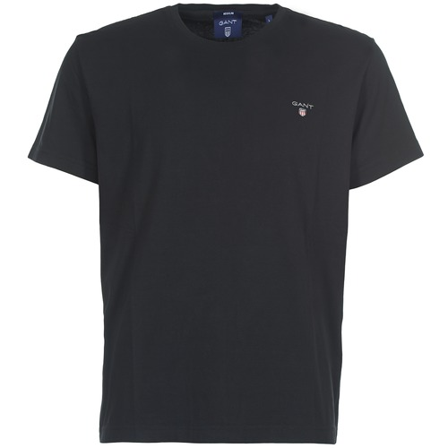 Textiel Heren T-shirts korte mouwen Gant THE ORIGINAL SOLID T-SHIRT Zwart