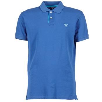 Textiel Heren Polo's korte mouwen Gant CONTRAST COLLAR PIQUE Blauw