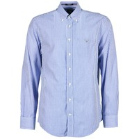 Textiel Heren Overhemden lange mouwen Gant THE POPLIN BANKER STRIPE Blauw