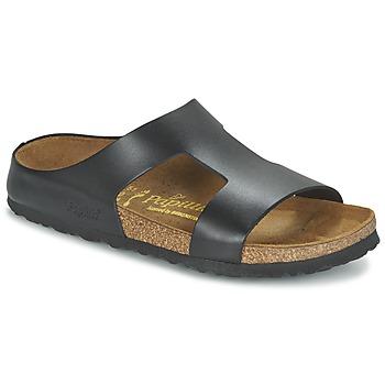Schoenen Dames Leren slippers Papillio CHARLIZE Zwart / Metaal