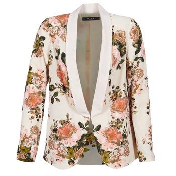 Textiel Dames Jasjes / Blazers Vila VIFLOURISH BLAZER Beige / Fleur
