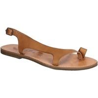 Schoenen Heren Sandalen / Open schoenen Gianluca - L'artigiano Del Cuoio 526 D CUOIO GOMMA Cuoio