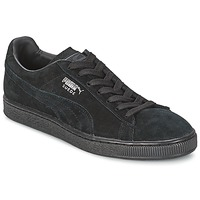 Schoenen Heren Lage sneakers Puma SUEDE CLASSIC Zwart / Grijs