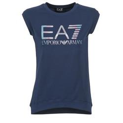 Textiel Dames T-shirts korte mouwen Emporio Armani EA7 ANDROUL Marine