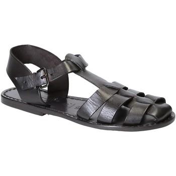 Schoenen Dames Sandalen / Open schoenen Gianluca - L'artigiano Del Cuoio 501 D NERO CUOIO nero