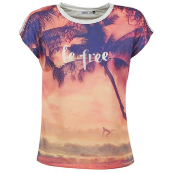 Textiel Dames T-shirts korte mouwen Only BE FREE SUMMER Multi