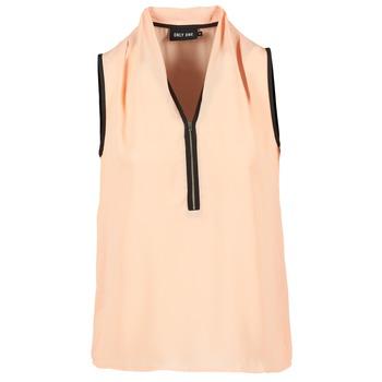 Textiel Dames Tops / Blousjes Only FIA ZIP Oranje / Pastel / Zwart