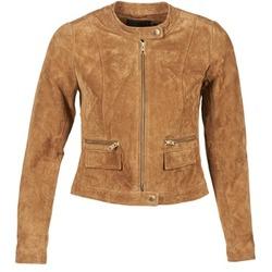 Textiel Dames Leren jas / kunstleren jas Only PAIGE Cognac