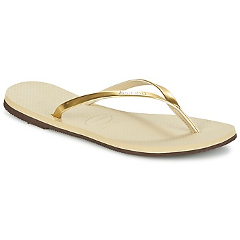 Schoenen Dames Teenslippers Havaianas YOU METALLIC Goud