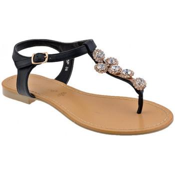 Schoenen Dames Teenslippers F. Milano  Zwart