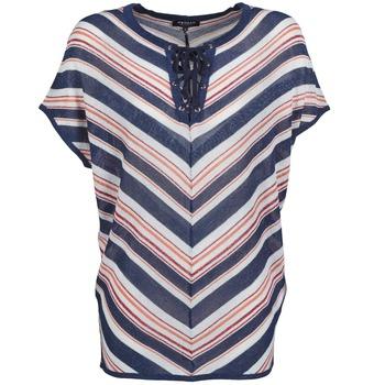 Textiel Dames Tops / Blousjes Morgan MQUAI Blauw / Rood