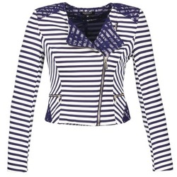 Textiel Dames Jasjes / Blazers Morgan VMEL Marine / Wit