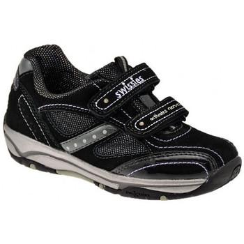 Schoenen Kinderen Lage sneakers Swissies  Zwart