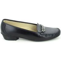 Schoenen Dames Mocassins Boissy Binome Noir Gris Zwart