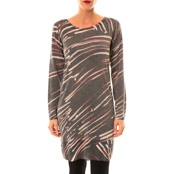 Textiel Dames Korte jurken Custo Barcelona Robe pull Look Lawers marron Bruin