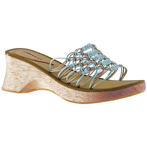 Schoenen Dames Leren slippers Lumberjack  Beige