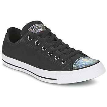 Schoenen Dames Lage sneakers Converse ALL STAR OIL SLICK TOE CAP OX Zwart