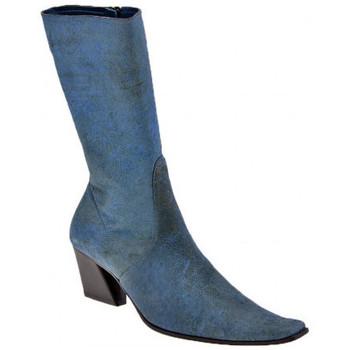 Schoenen Dames Hoge laarzen Giancarlo Paoli  Blauw