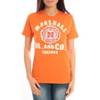 Textiel Dames T-shirts korte mouwen Sweet Company T-shirt Marshall Original M and Co 2346 Orange Oranje