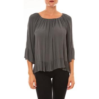 Textiel Dames Tops / Blousjes La Vitrine De La Mode By La Vitrine Blouse Giulia anthracite Grijs