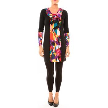 Textiel Dames Korte jurken Bamboo's Fashion Robe Vintage/noir BW618 multicolor Zwart