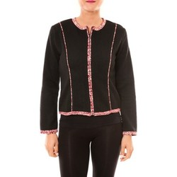 Textiel Dames Jasjes / Blazers Bamboo's Fashion Veste BW667 noir Zwart