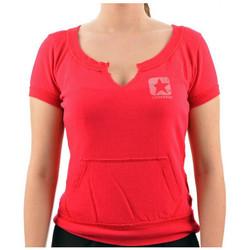 Textiel Dames T-shirts korte mouwen Converse  Roze