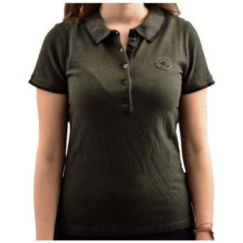 Textiel Dames Polo's korte mouwen Converse  Zwart
