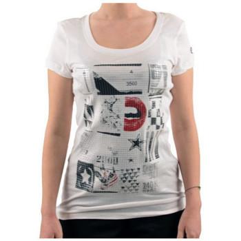 Textiel Dames T-shirts korte mouwen Converse  Wit