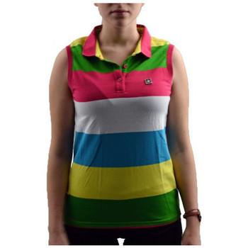 Textiel Dames Polo's korte mouwen Converse  Multicolour